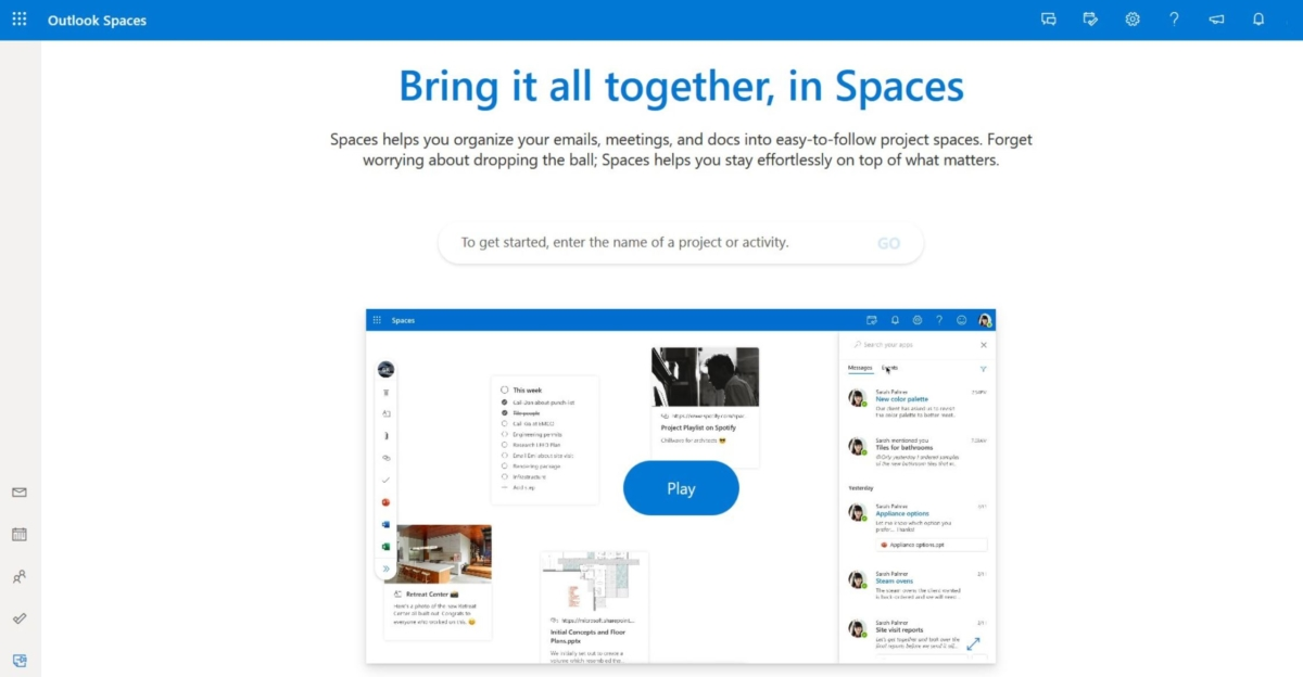 Microsoft working on a brand new Outlook experience called Spaces - MSPoweruser