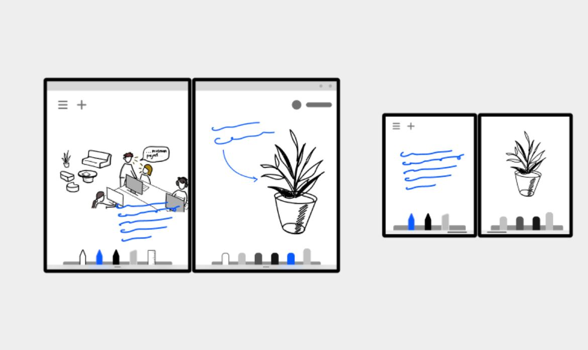 Microsoft wants developers to optimize their apps for these dual-screen patterns 1