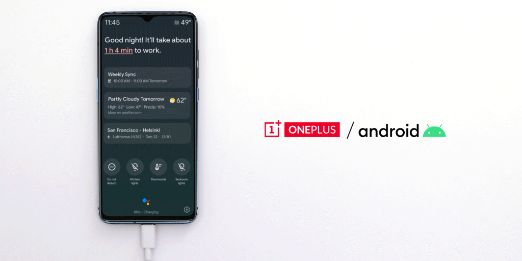 OnePlus smartphones are now getting Google Assistant's Ambient Mode