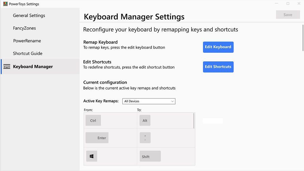 Microsoft working on a new keyboard-mapping PowerToy 1
