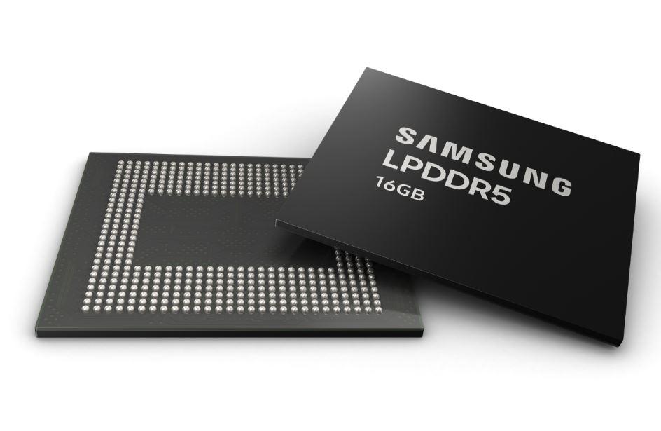 Samsung begins mass production of next-gen 16 GB LPDDR5 RAM