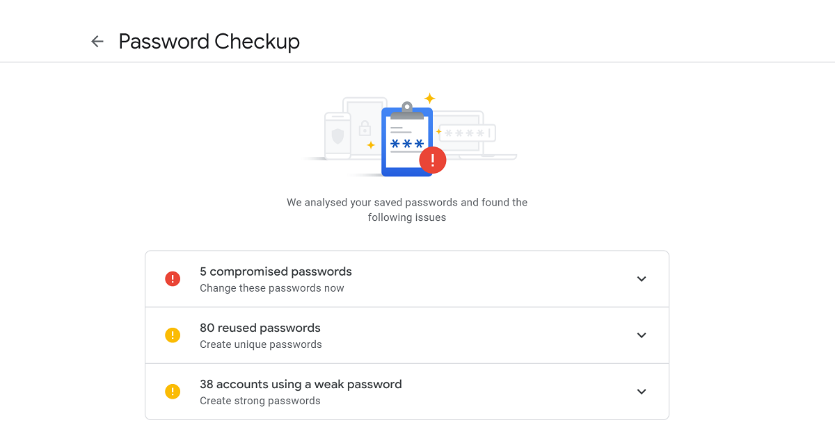 Google to bring Password Checkup to Chrome's built-in password manager 1