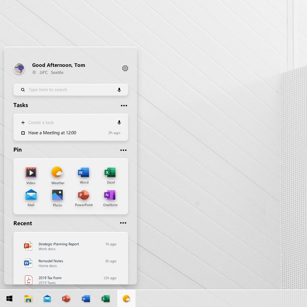 Project Acrylic concept bring the Windows 10X look to Windows 10 1