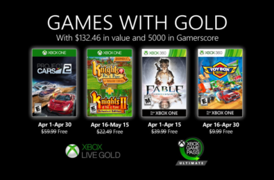 Xbox Games with Gold April 2020 announced 1