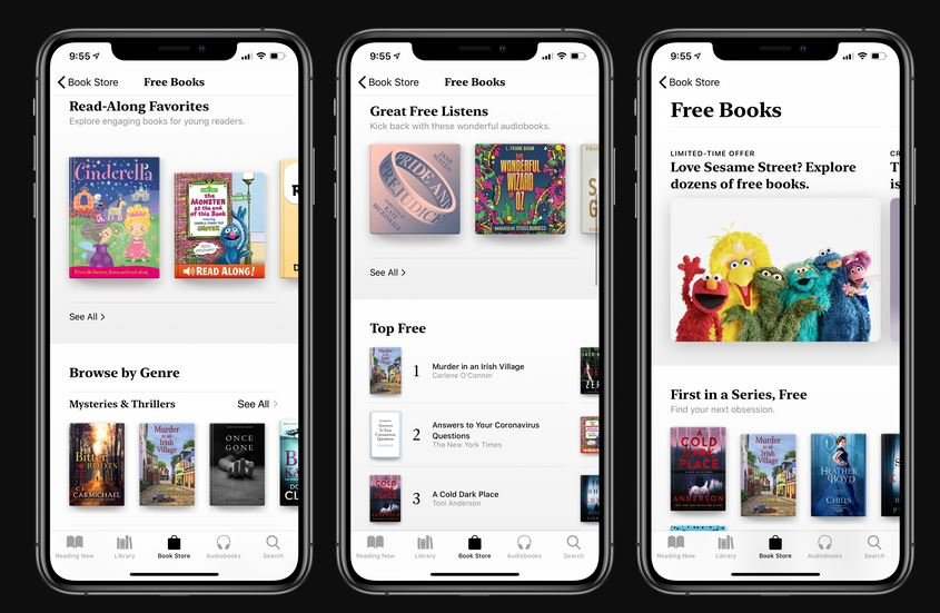 Apple is now offering free ebooks and audiobooks in Apple Books