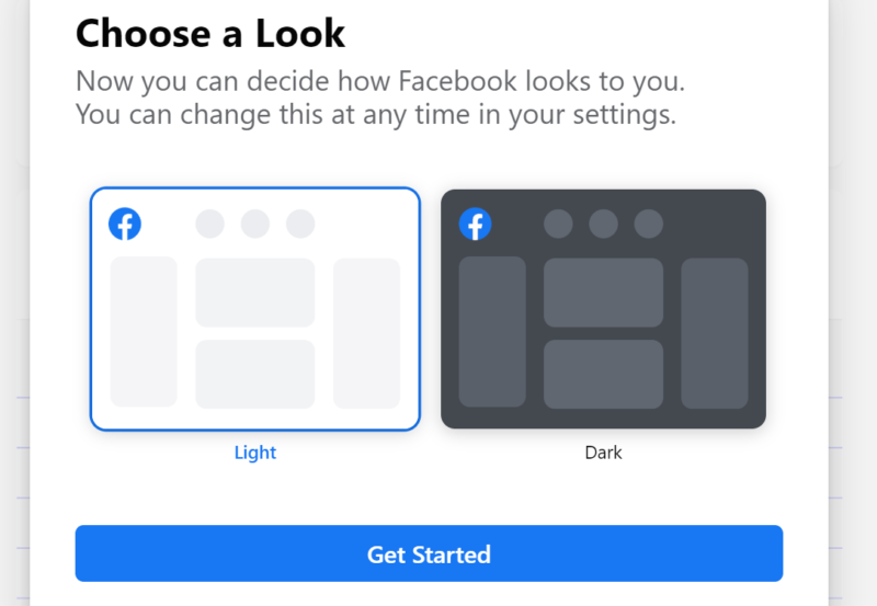 Facebook now lets most users opt-in to dark mode desktop redesign
