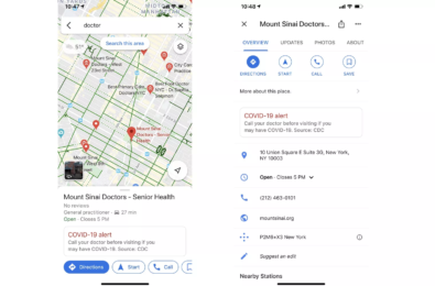 Google Maps will now remind you to call your doctor before visiting them 1
