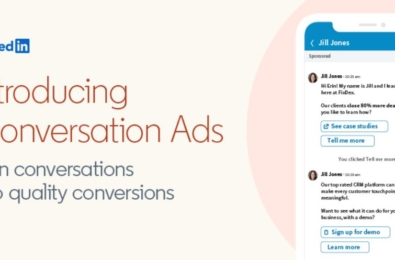 LinkedIn announces Conversation Ads, a new messaging-based ad format for better engagement 1