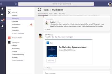 Box announces integration within Microsoft Teams and updated add-in for Outlook mobile 1