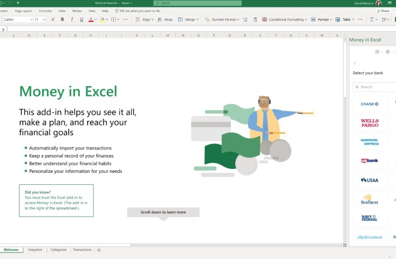 This new fintech startup is behind Microsoft's Money in Excel feature 3