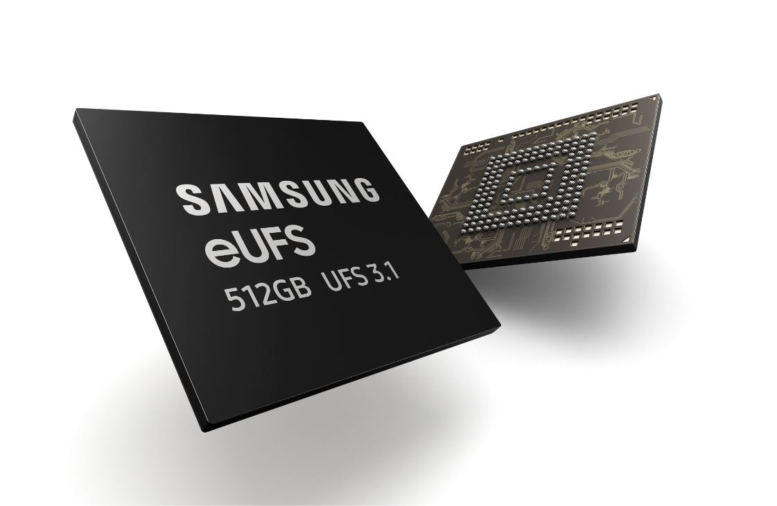 Samsung's new 512GB eUFS 3.1 memory can store 8K videos and large-size image files without buffering 1
