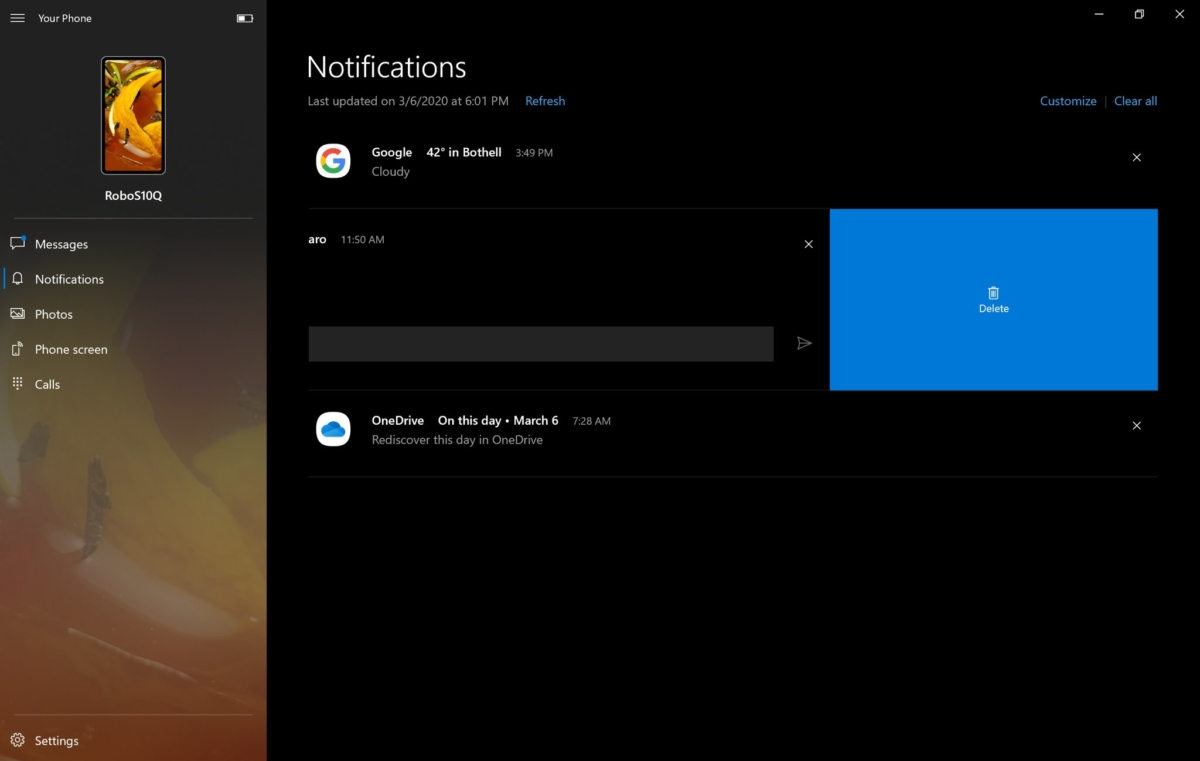 Your Phone app's Fluent Design update and other improvements now rolling out 1