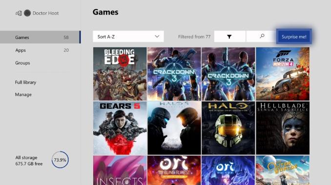 Xbox One Surprise Me