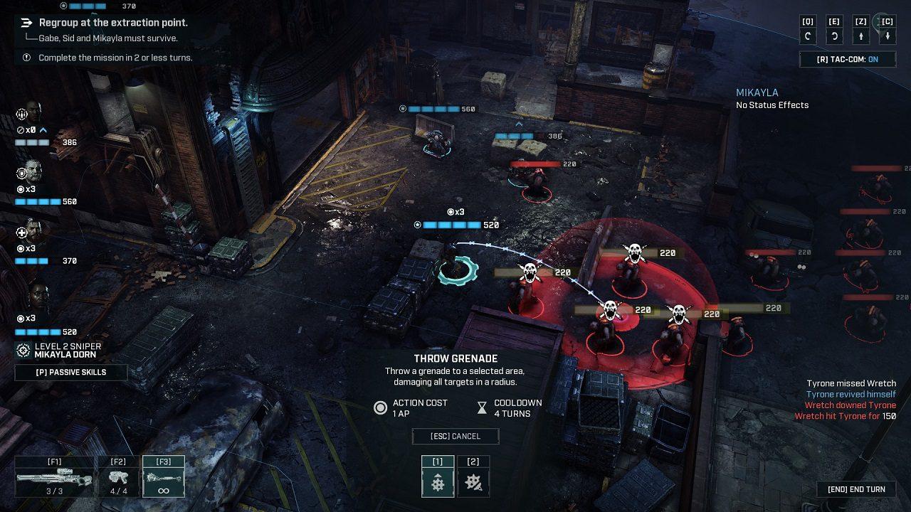 Gears Tactics grenade