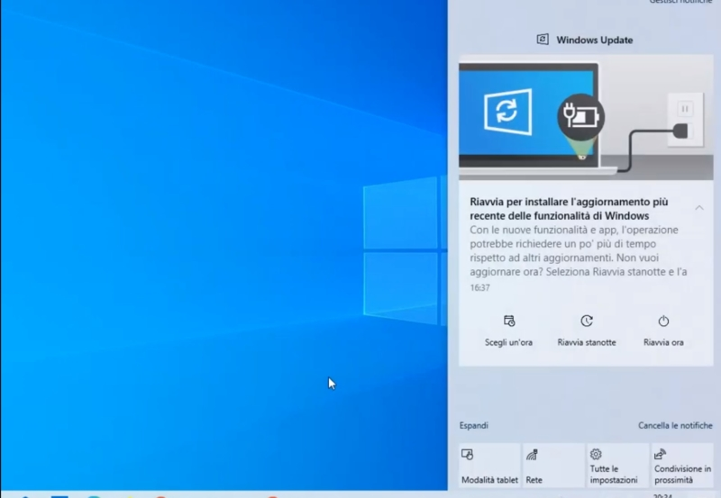 Windows Update notification now much better in Windows 10 2004 1