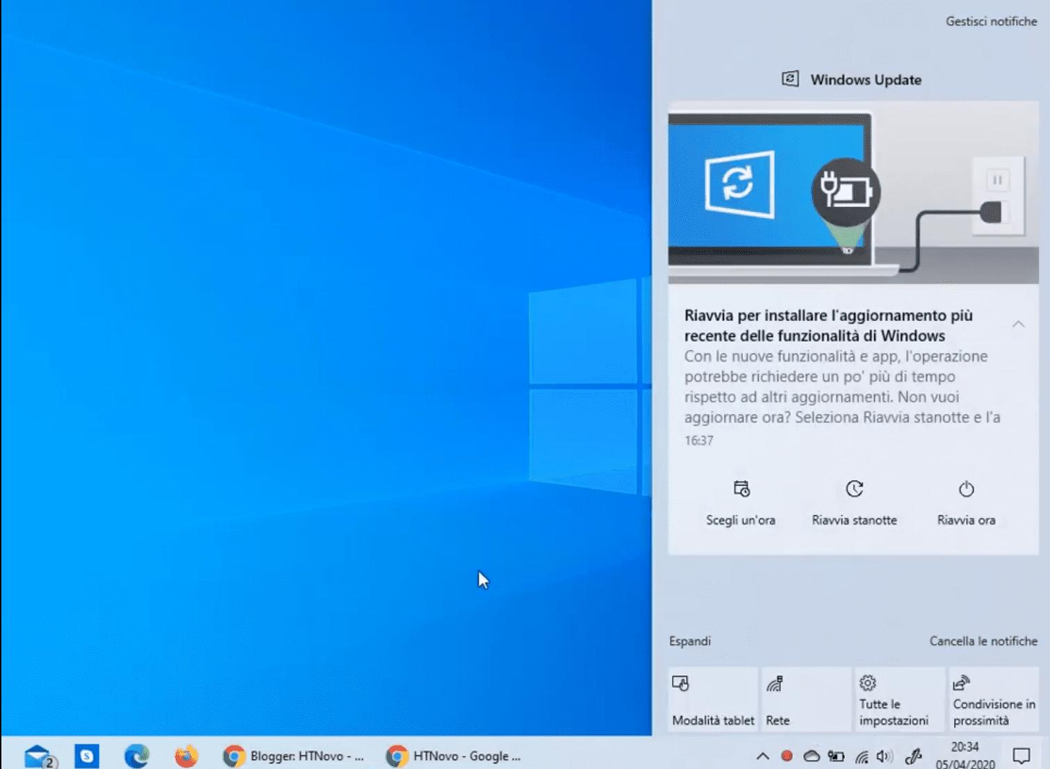 Windows Update notification now much better in Windows 10 2004 1