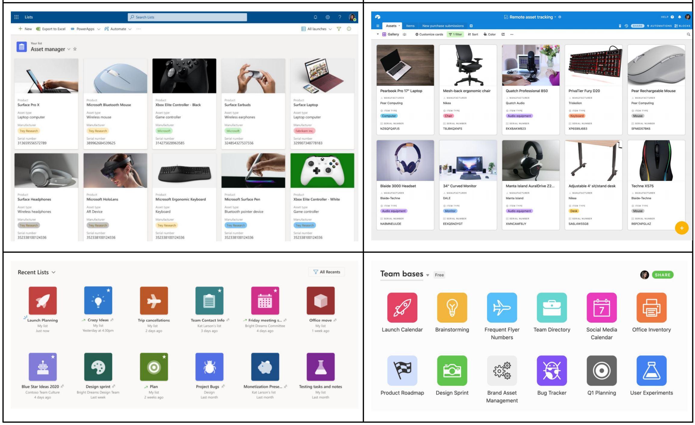 Microsoft Lists AirTable