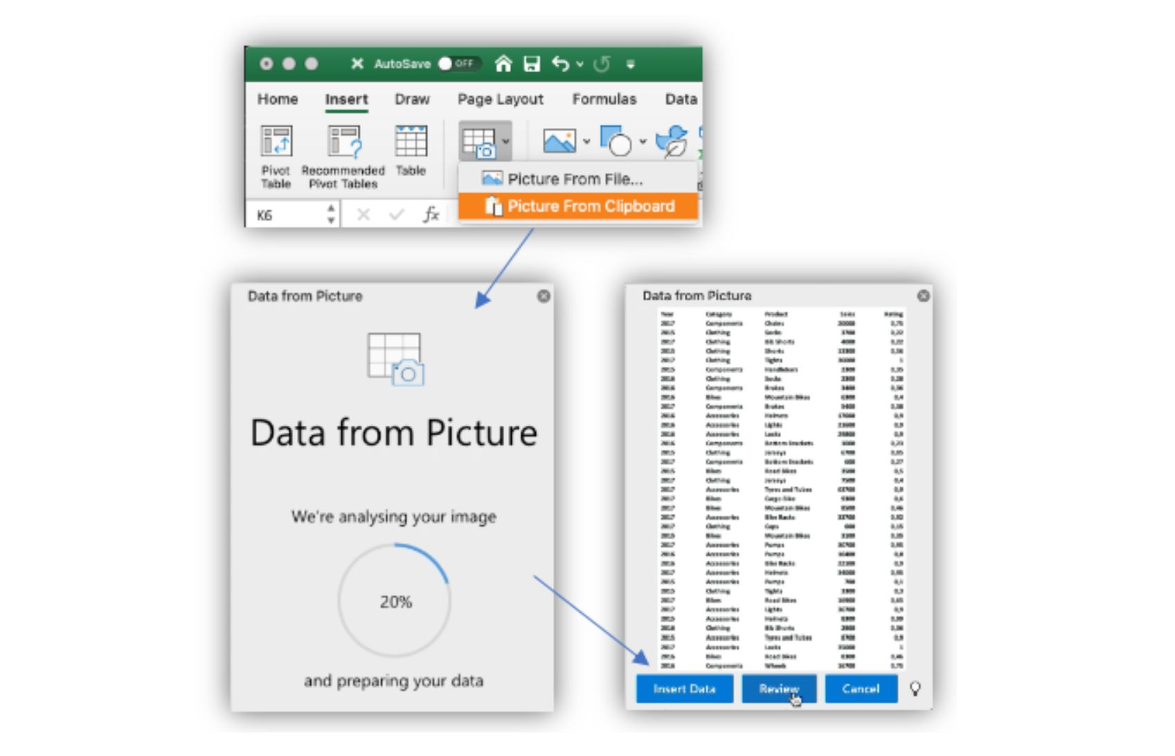 Microsoft brings the new Data from Picture feature to Excel for Mac  Insiders - MSPoweruser