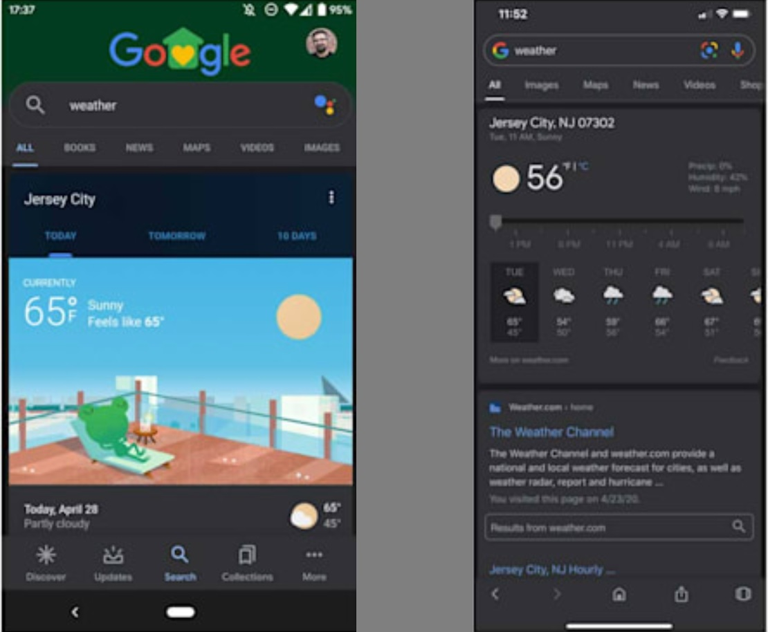 Google Mobile App Dark Mode Rolls Out Starting Today