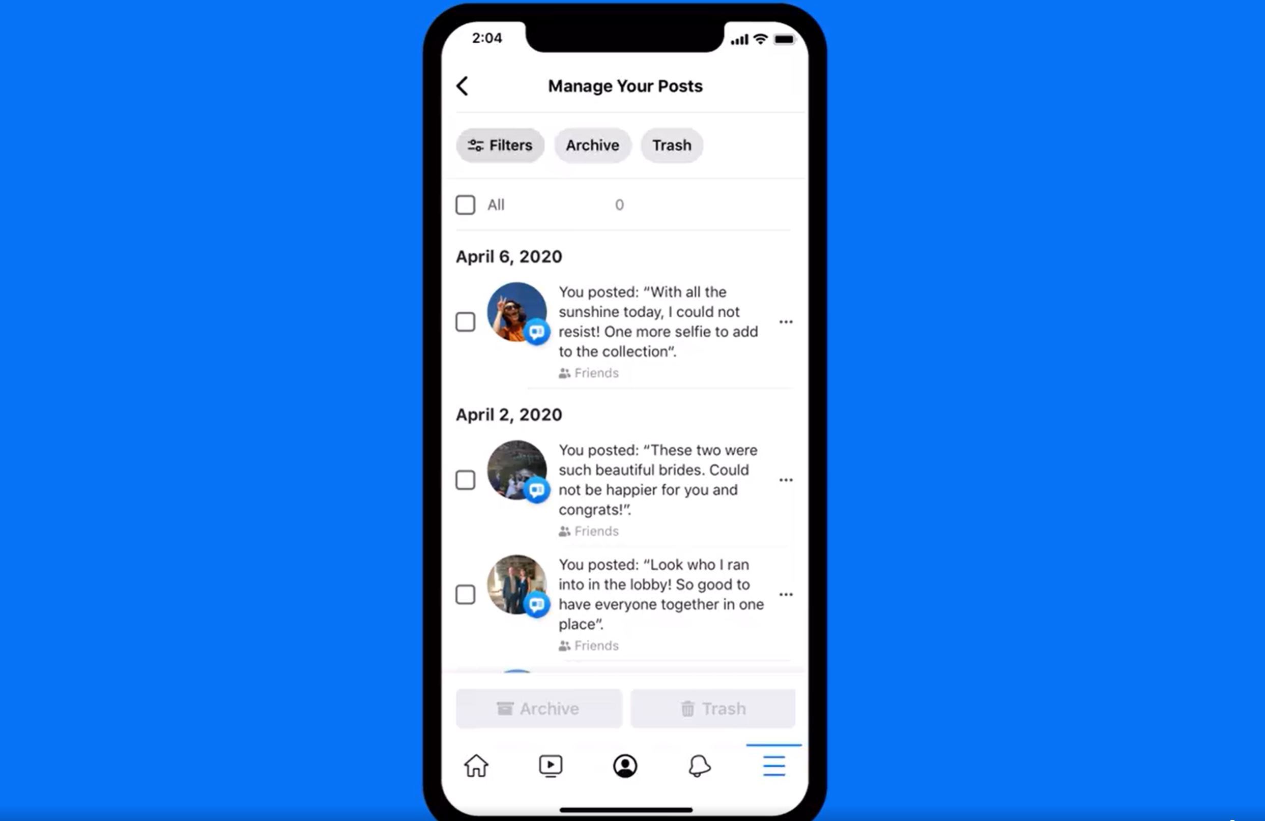Facebook now allows users to hide older posts