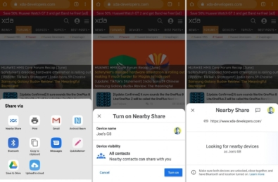 Google Nearby Share AirDrop