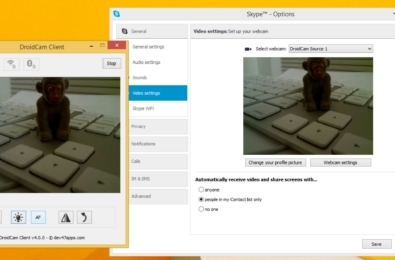 iPhone Android webcam Windows 10