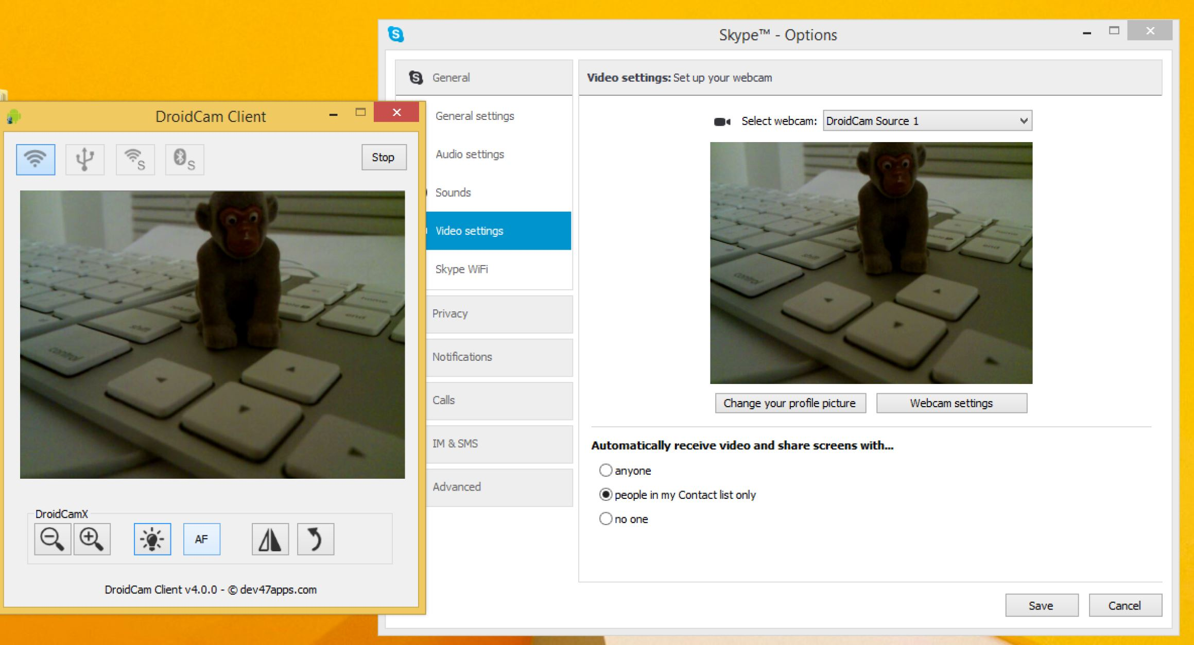 How to use iPhone or Android phone as a webcam for a Windows PC
