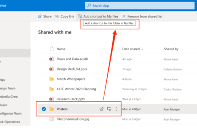 onedrive-shortcuts-shared-folders