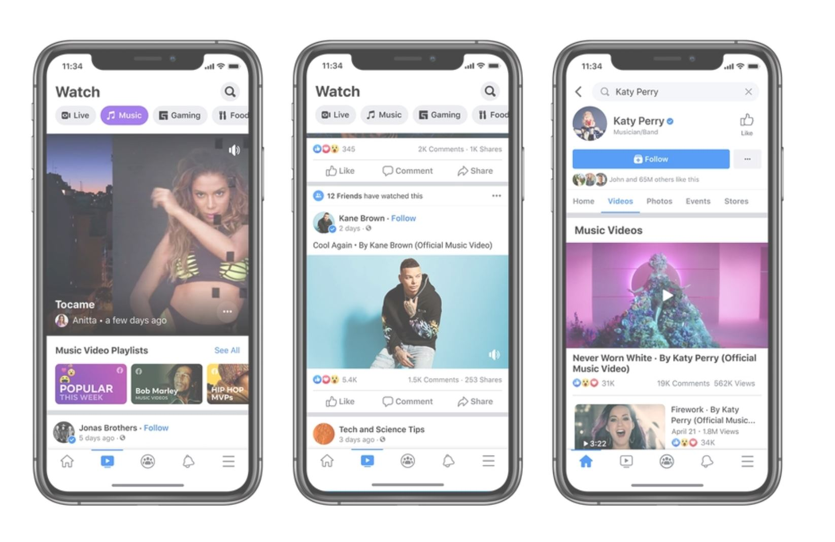 Facebook is bringing official music videos to compete with YouTube