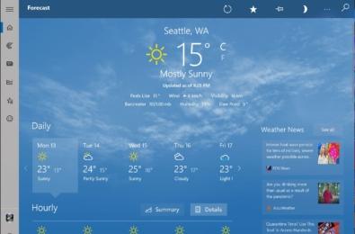 MSN Weather Windows 10