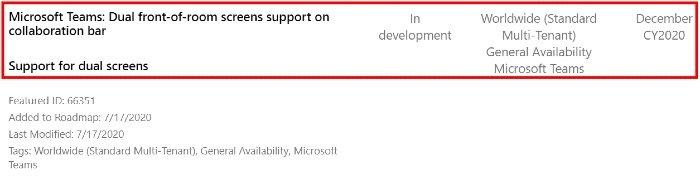 Microsoft Teams bu Aralık ayında çift ekran desteği alacak 2