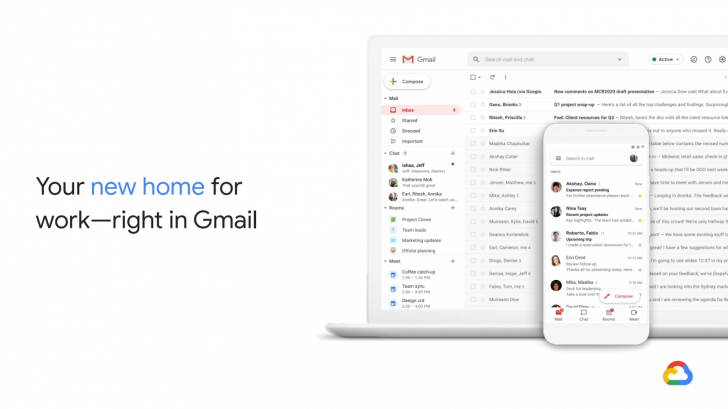 Google to on Microsoft with Gmail, Google Chat, Rooms, and Meet integration
