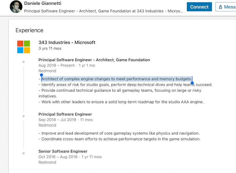 Halo Infinite engine changes LinkedIn
