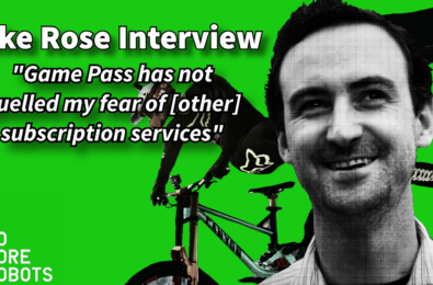 Mike Rose Descenders publisher no more robots interview game Pass