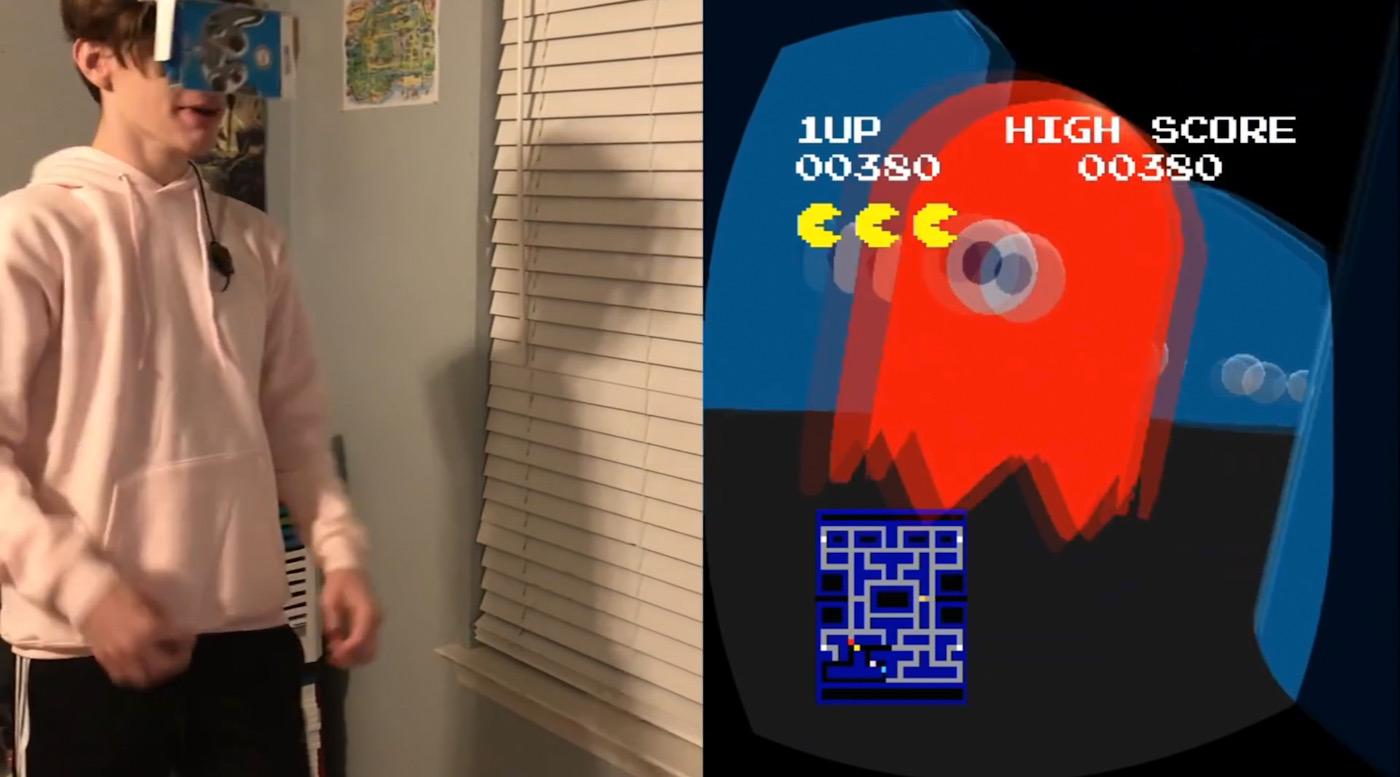 PSVita VR games Pac-Man VR gameplay homebrew