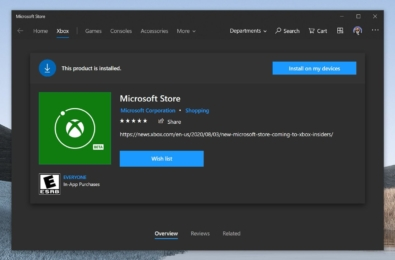 New Microsoft Store application