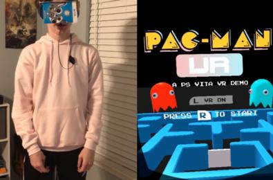 PSVita VR games Pac-Man VR