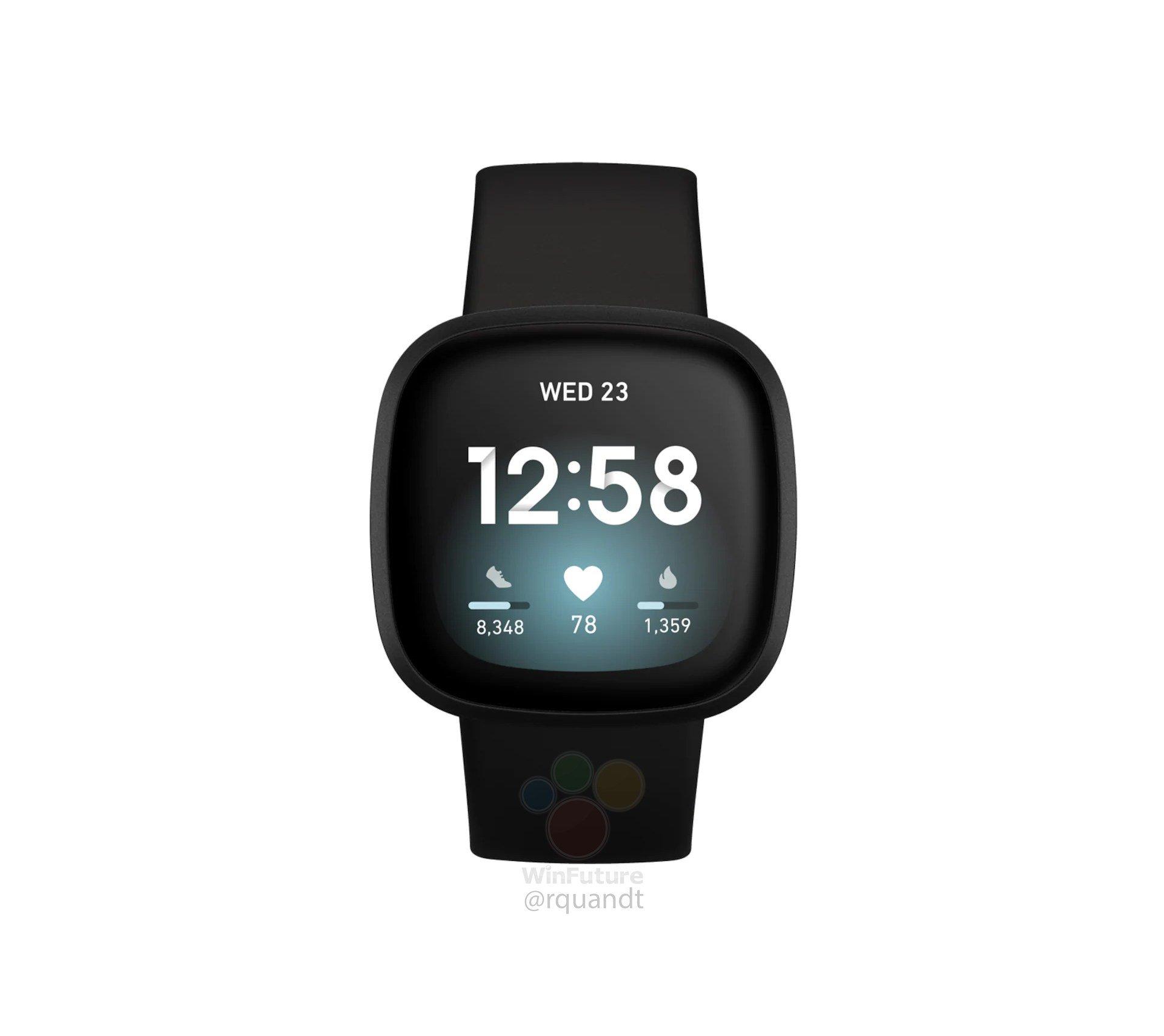Fitbit Versa 3, Inspire 2 & Sense renders leak suggesting imminent launch