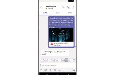 Microsoft Teams Suggested Replies