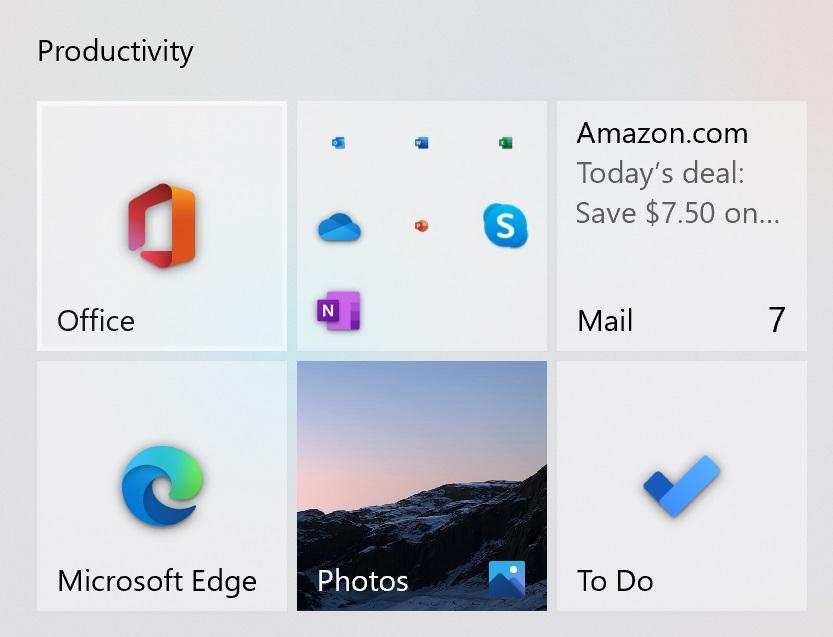 Microsoft videosu, sahte Windows 10 Başlat Menüsü ile yeni Fluent simgelerini gösteriyor 2