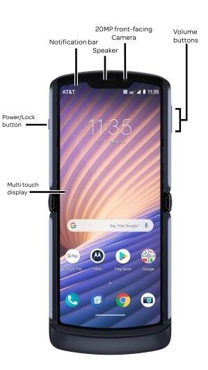 Motorola, Moto Razr 5G'nin parmak izi okuyucusunu saklamak için yeni bir yer buldu 3