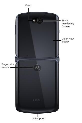 Motorola, Moto Razr 5G'nin parmak izi okuyucusunu saklamak için yeni bir yer buldu 2