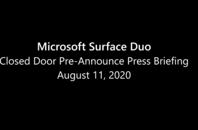 surface duo announcement