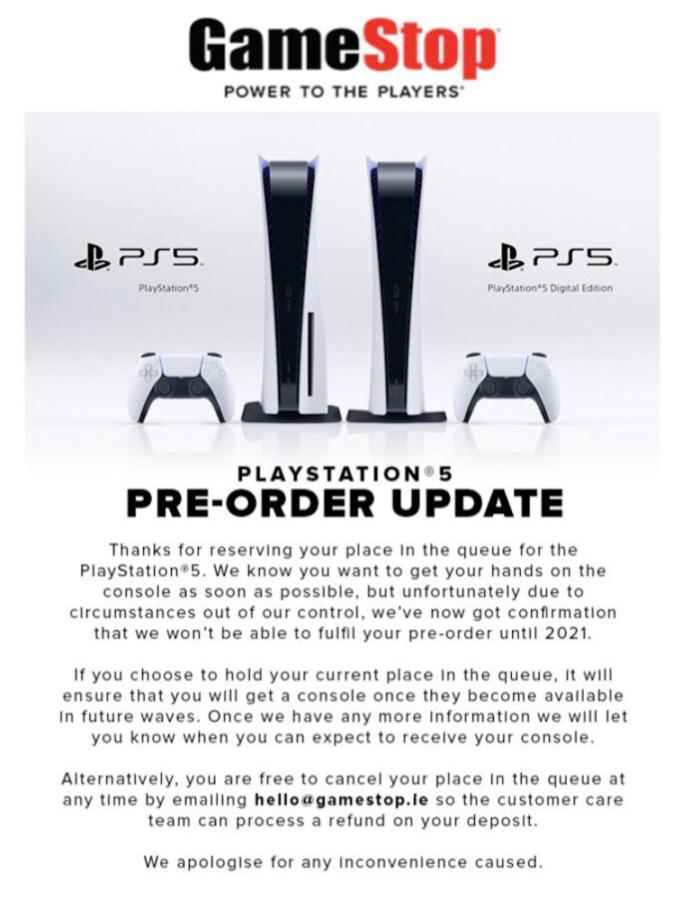 PS5 preorders GameStop