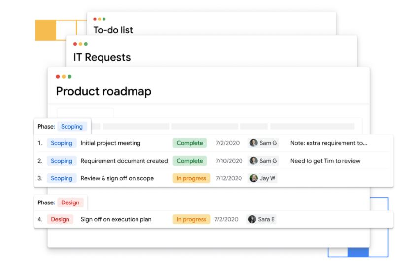 New Google Tables service enables teams to easily track and automate tasks
