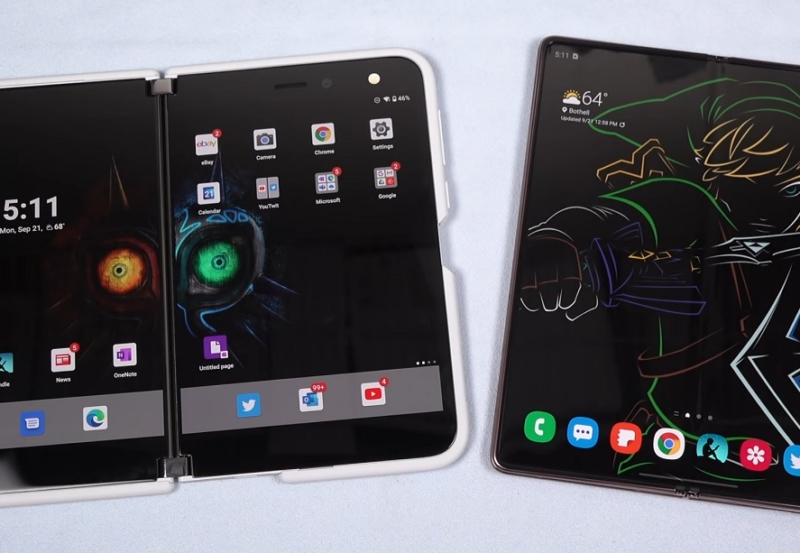 surface duo vs samsung galaxy z fold 2 review