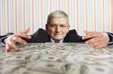 tim cook apple money