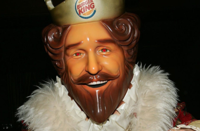 PS5 UI Burger King mascot