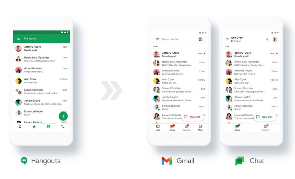 Google to Move Users From Hangouts to Google Chat Early Next Year