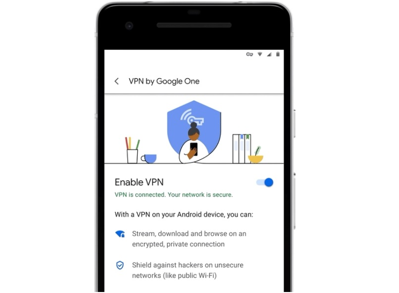 Google One's 2TB plan now comes with a VPN for online privacy
